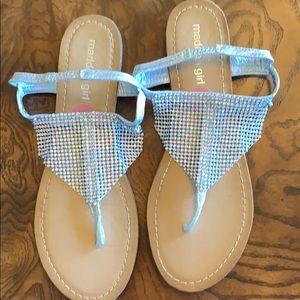 Iridescent Rhinestone Blingy Sandals